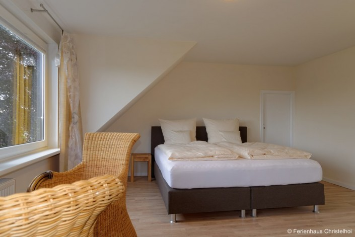 19.6m² bedroom Anneliese with large double bed on the first floor