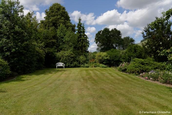 Der Garten zum Ferienhaus Christelhoi mit 1.000 m²