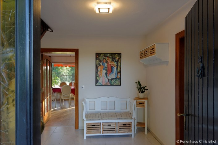 Eingangsbereich Ferienhaus Christelhoi